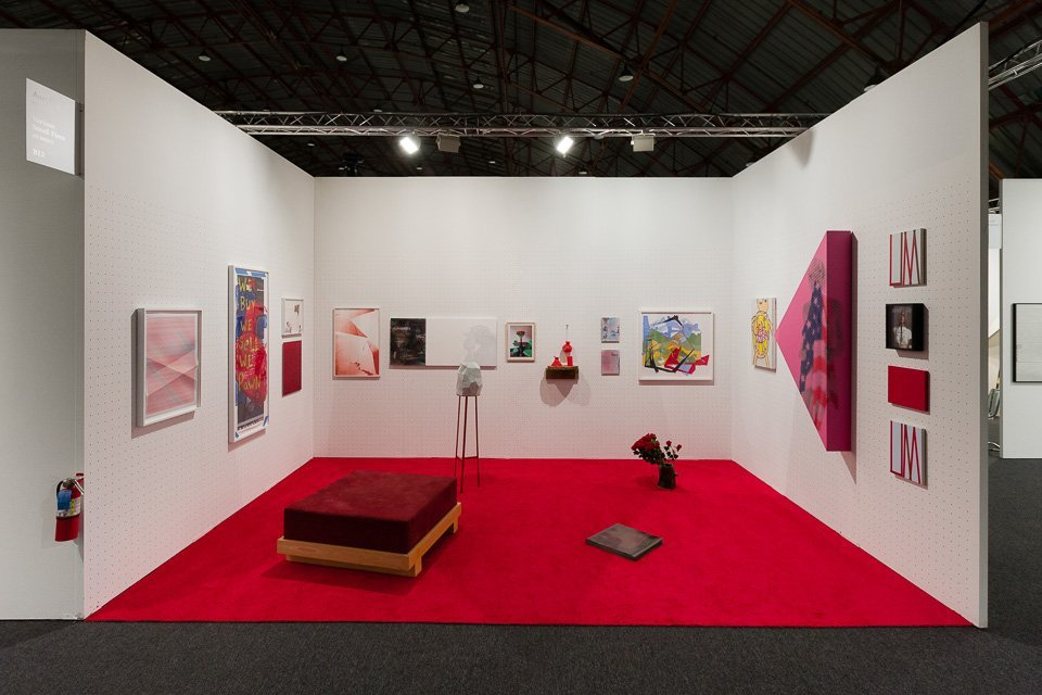 Installation view of _Le fil rouge_  at Art Los Angeles Contemporary 01