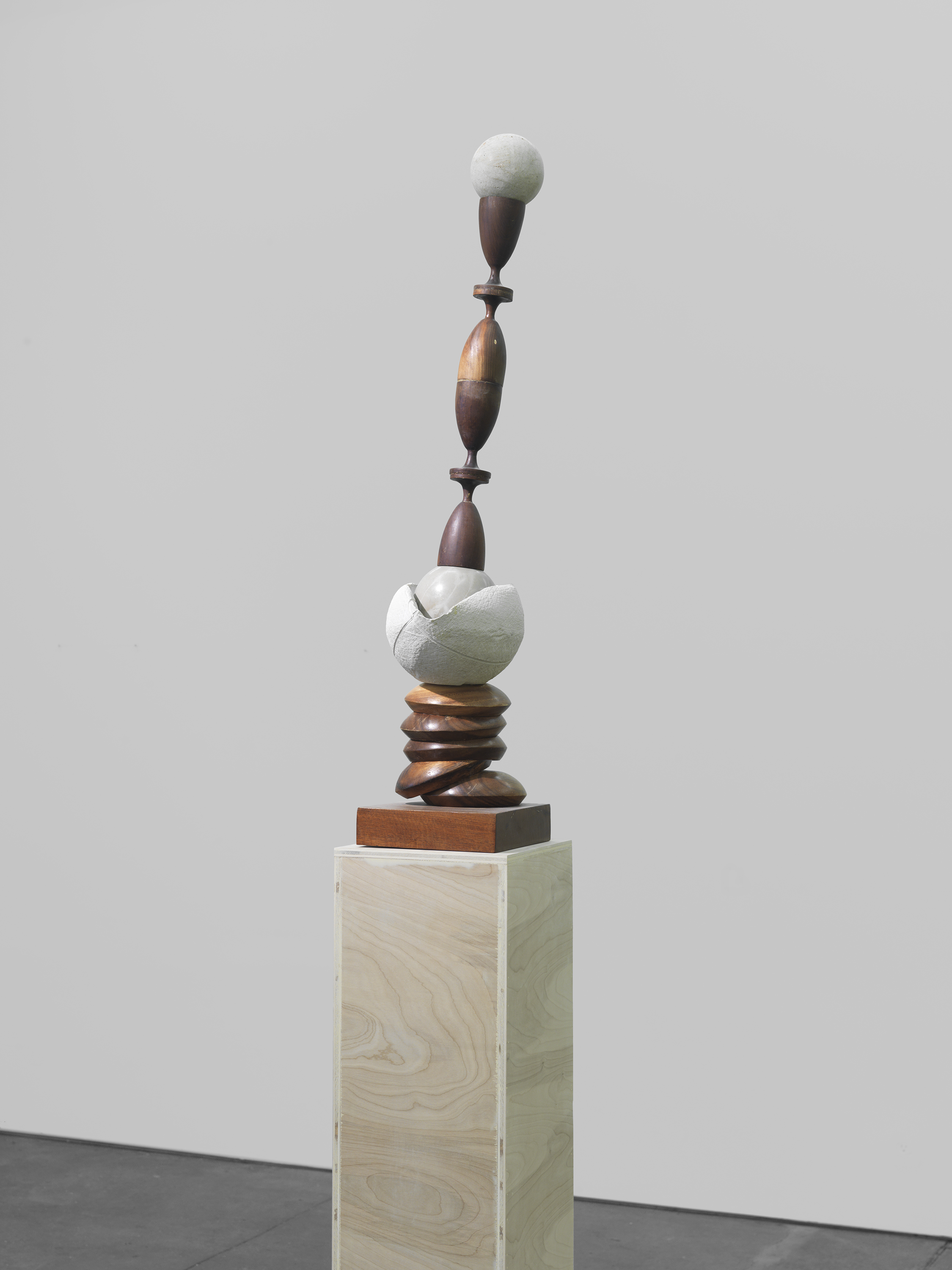 Jason Bailer Losh  John's Bronze, when a friend comes..., 2016 Walnut, ultracal, steel, concrete and pine  39.5 x 8 x 10 inches
