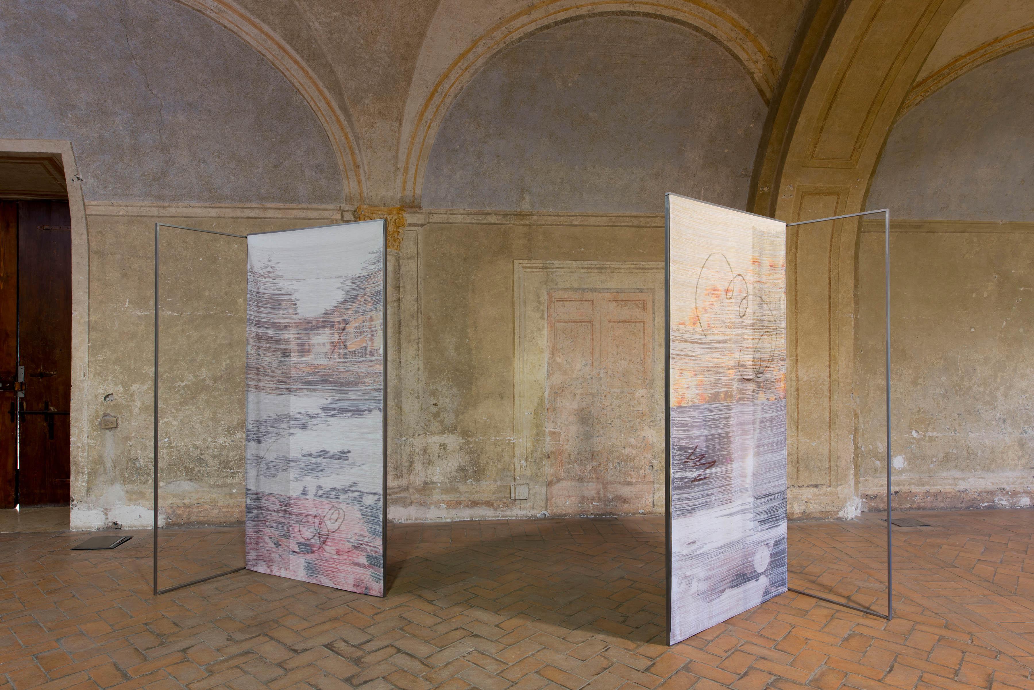 Margo Wolowiec Installation view, Granpalazzo 2015 with Anat Ebgi, 2015