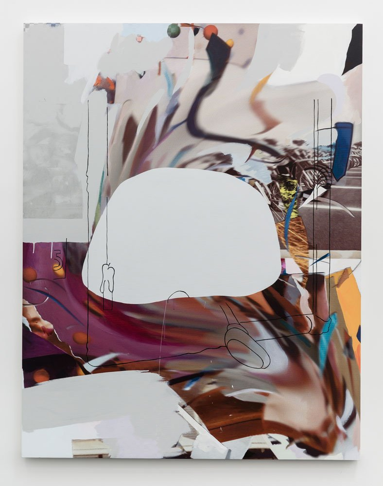 Chris Coy WhirpoolFrigidaire, 2015 Digital print on canvas, acrylic, latex, graphite, silkscreen, enamel 72 x 56 inches