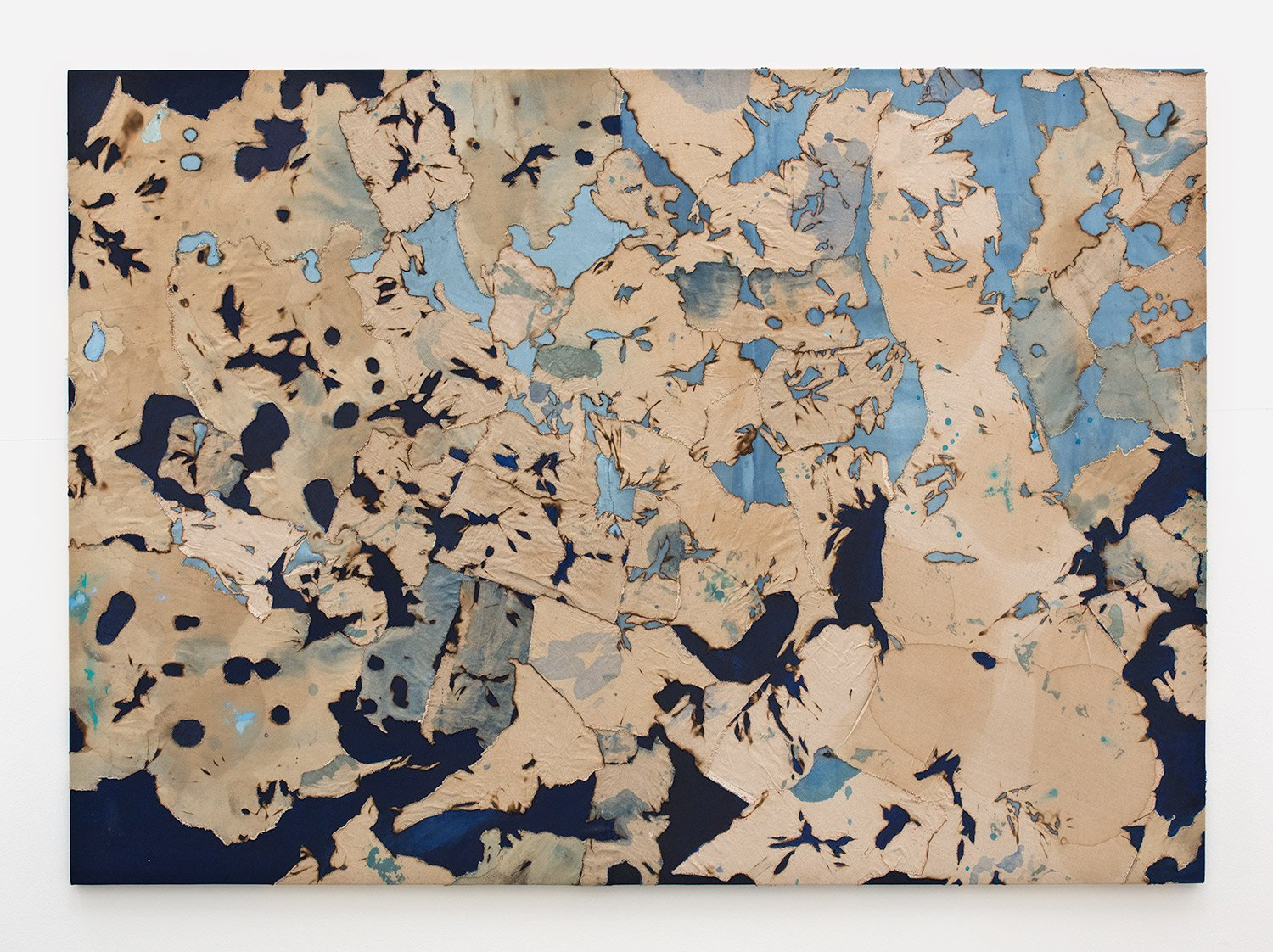 Samantha Thomas Cartography #6, 2016 Thread, acrylic and linen on canvas 60 x 84 inches
