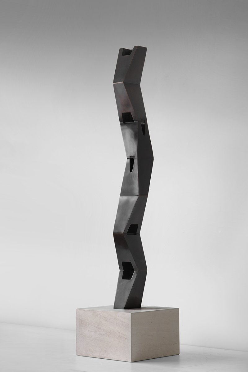 An Te Liu Tropos III/II/I (for Gertrude Stein), 2016 Bronze 81 x 11 x 10 inches Unique work in a series of 3